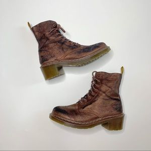 Dr. Martens   Rare Rose Gold Clemency Boot   10